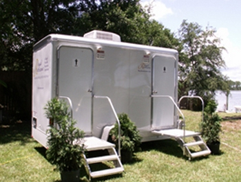 Royal Restrooms Two Stall Portable Trailers Are Por For Weddings And Private Functions