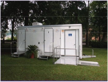 ADA Plus Two Stall Unit Portable Restrooms Are Designed To Accommodate  Individuals With Disabilities.