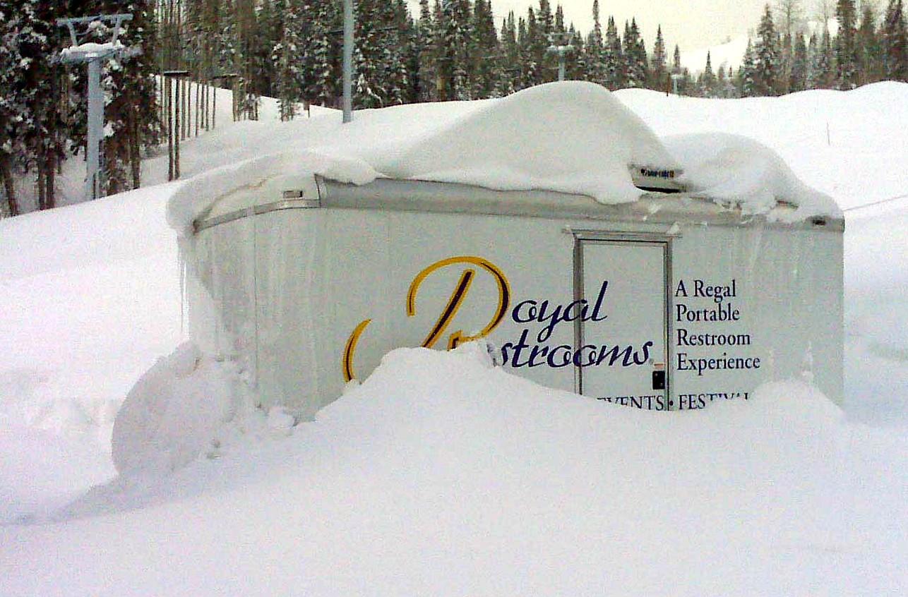 Utah Portable Restrooms At Canyons Resort Ii