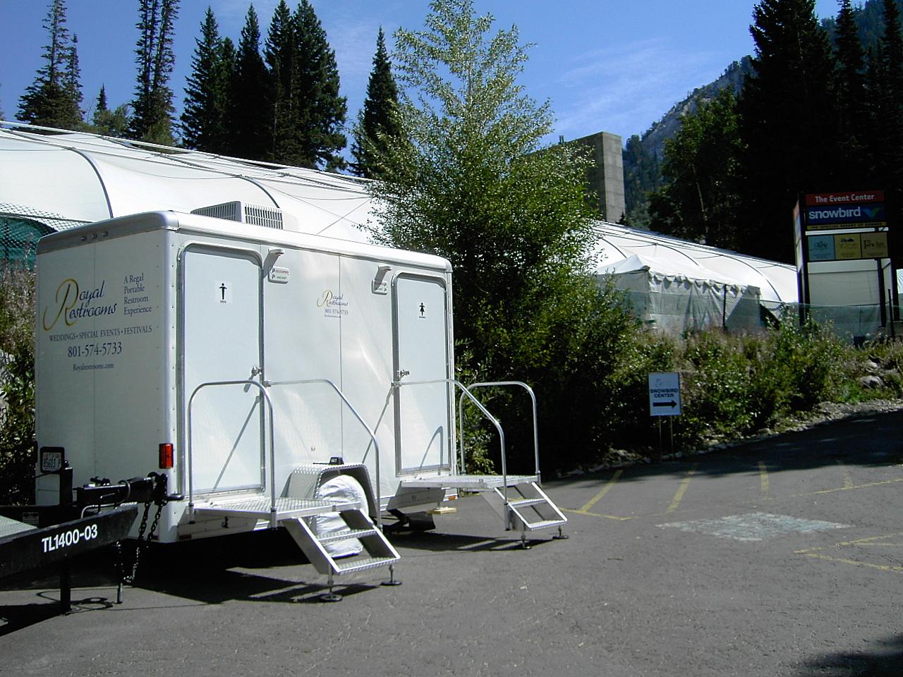 Lovely Utah Portable Restrooms At Snowbird Resort Ii