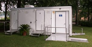 Portable Restroom Trailers Ada Plus Two Stall