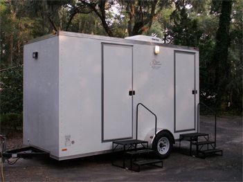 Two-Stall Portable Shower Trailer by Royal Restrooms