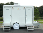 Two Stall Portable Shower Trailer