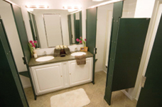 Eight-Stall Shower Interior