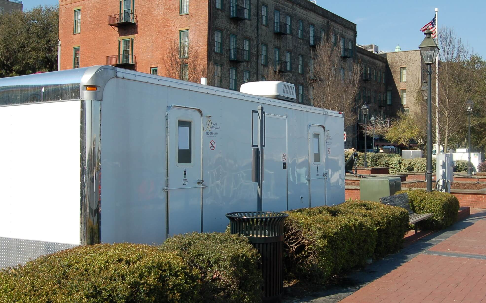 Ten Stall Portable Restroom on River Street