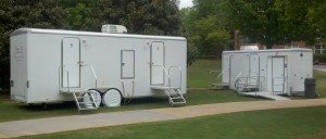 Ten Stall Trailer and ADA Certified Restroom Trailer at Furman Commencement 2013
