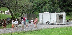 Upscale Portable Restroom Trailers