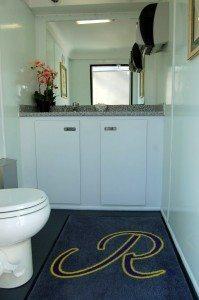 Portable Restroom Trailer Interior