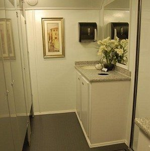 Portable Restroom Trailers for business remodels and special events