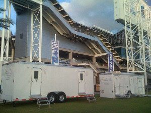 Portable Restroom Trailers for Sports Events