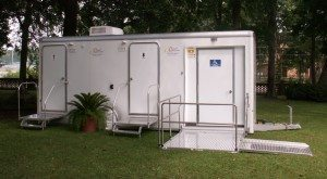 ADA Certified Portable Restroom Trailer with Ramp