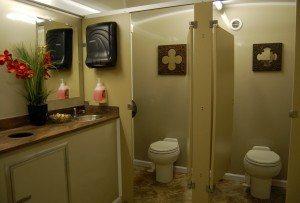 10 Stall Portable Restroom Trailer