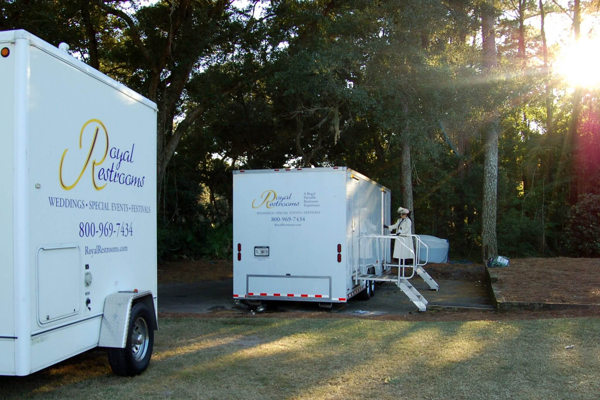 Event planning the portable restroom trailer royal for Portable bathroom trailers