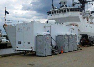Portsmouth VA Portable Restroom Trailer vs. Porta Potty