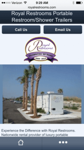 Portable Restrooms Mobile Website