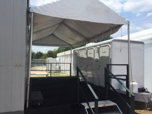 Royal Restrooms of the Carolina's Proudly Provides Luxury Portable Restroom and Shower Trailers for the at First Sports Event in History to be Played on an Active Military Base