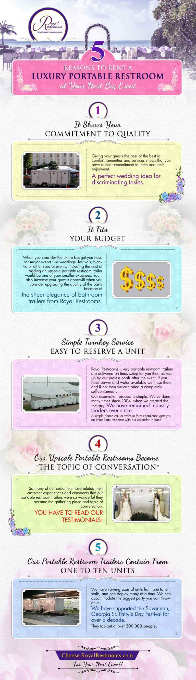 5 Reasons To Rent A Luxury Portable Restroom Trailer for Your Next Special Event [INFOGRAPHIC]