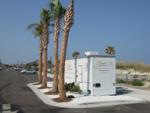 Luxury Portable Restrooms - Royal Restrooms at the Beach